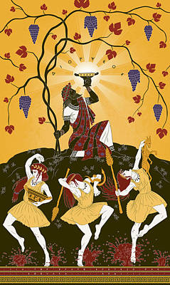 The Thiasus Of Dionysus Poster by Matthew Kocvara