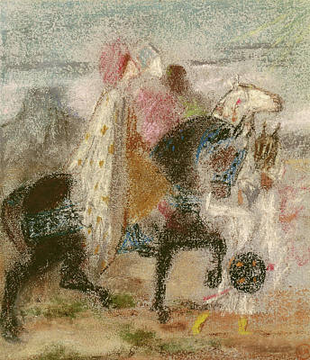 The Three Magi, Started In 1860 And Reworked After 1882 Pastel On Paper Poster