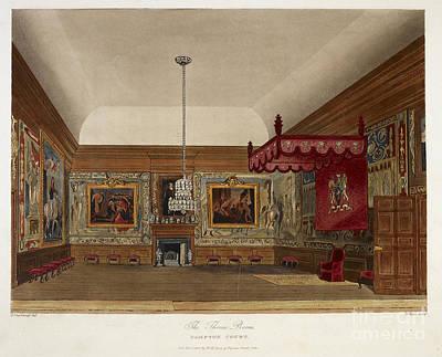 The Throne Room, Hampton Court Poster