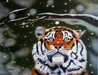 The Tiger In Winter Poster