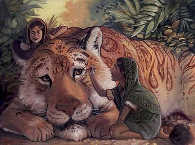 Stripes For Tiger Poster