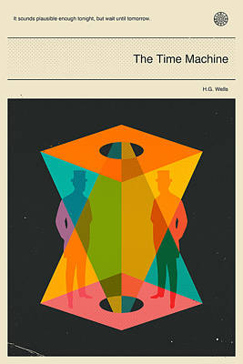 The Time Machine Poster by Jazzberry Blue