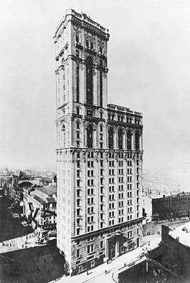 The Times Building, New York, C.1900 Bw Photo Poster by American Photographer