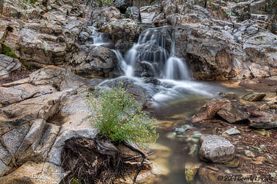 The Top Of Carr Canyon Falls Poster