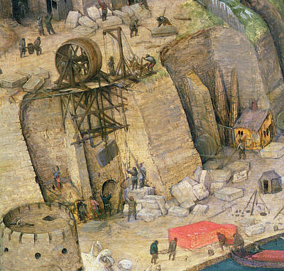 The Tower Of Babel, Detail Of The Construction Works, 1563 Oil On Panel Detail Of 345 Poster