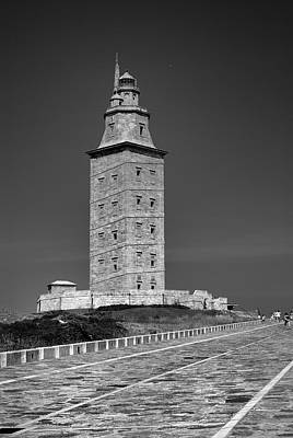 The Tower Of Hercules Lighthouse 2nd Century Poster by Guido Montanes Castillo