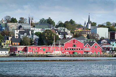 The Town Of Lunenburg Poster