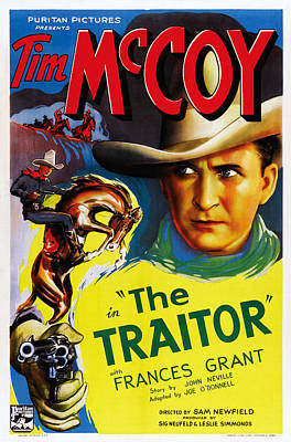 The Traitor, Us Poster Art, Tim Mccoy Poster by Everett