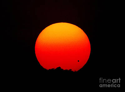 The Transit Of Venus At Sunrise Poster by Chris Cook