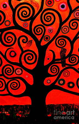The Tree Of Life Red Poster