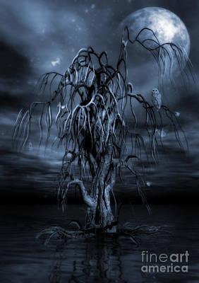 The Tree Of Sawols Cyanotype Poster
