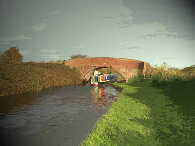 The Trent And Mersey Canal Near, The Vessel Seen Here Poster