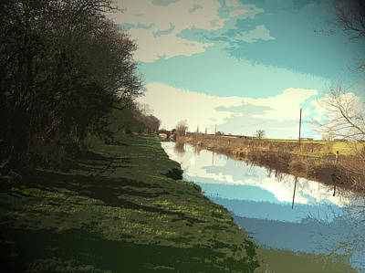 The Trent And Mersey Canal, Pictured Here Between Barrow Poster