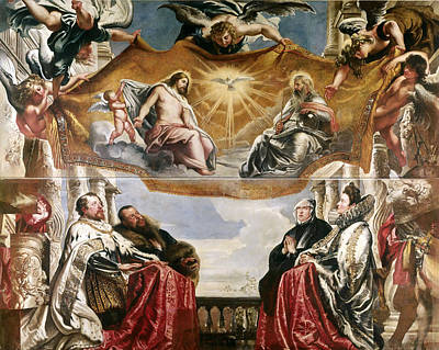 The Trinity Adored By The Duke Of Mantua And His Family Poster