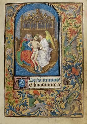 The Trinity Lieven Van Lathem, Flemish, About 1430 - 1493 Poster