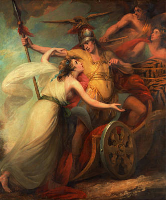 The Triumph Of Mercy, From Collins Ode To Mercy Poster by Litz Collection