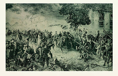 The Troops Of The 3rd Army Greet The Victor Of Woerth Poster