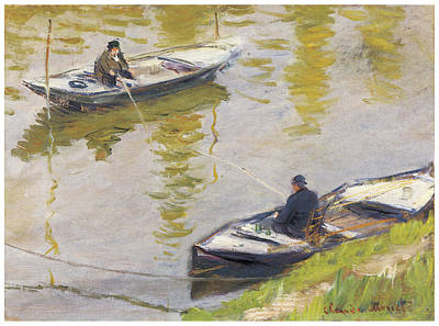 The Two Anglers Poster by Claude Monet