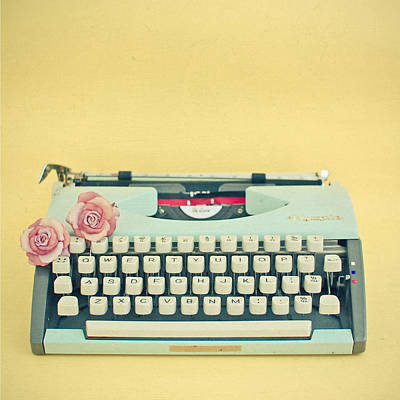 The Typewriter Poster by Cassia Beck