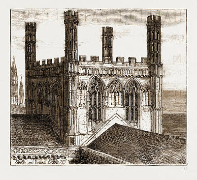 The Unsafe Condition Of Peterborough Cathedral The Central Poster by Litz Collection
