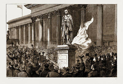 The Unveiling By Sir Richard Cross Of The New Statue Poster by Litz Collection