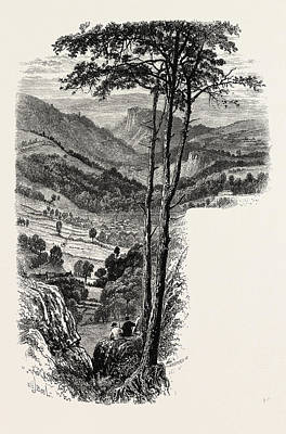 The Vale Of Cromford And Matlock, From The Black Rocks Poster by English School