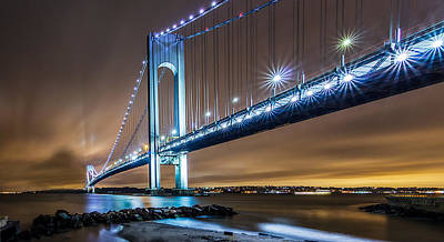 Poster featuring the photograph The Verrazano by Anthony Fields