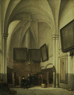 The Vestry Of The Sint Stevens Church Nijmegen Poster by Litz Collection