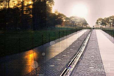 Poster featuring the photograph The Vietnam Wall Memorial  by John S