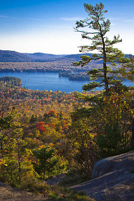 The View From Bald Mountain - Old Forge New York Poster