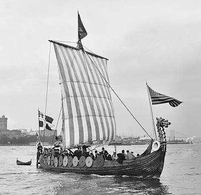 The Viking Ship - New York - 1893 Poster by Daniel Hagerman