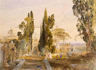 The Villa Deste, Tivoli, 1837 Poster