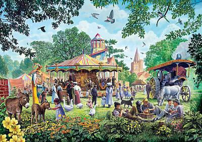 The Village Fayre  Poster by Steve Crisp