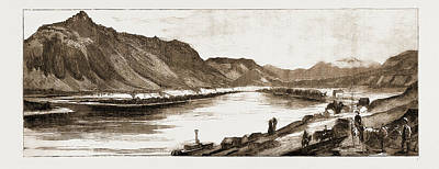 The Village Of Kamloops At The Confluence Of The North Poster