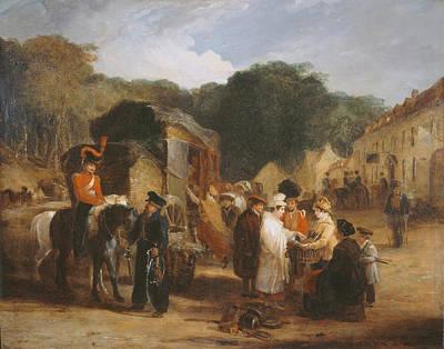 The Village Of Waterloo Poster by George Jones