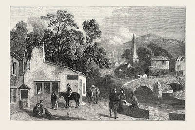 The Village Smithy, Exhibition Of The Society Of Painters Poster by Dodgson, George Haydock (1811?1880), English