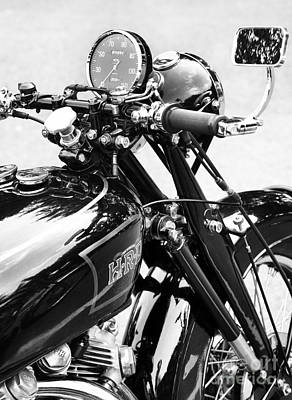 The Vincent Monochrome Poster by Tim Gainey