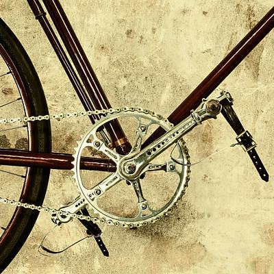 The Vintage Bicycle Gears Poster