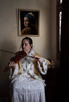 Poster featuring the photograph The Violin Player by Levin Rodriguez
