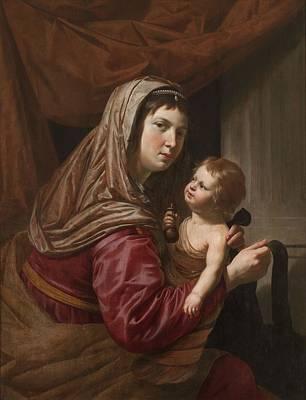 The Virgin And Child Poster by Jan van Bijlert or Bylert