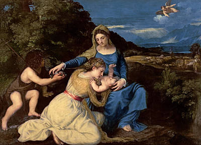 The Virgin And Child With Saints Poster by Titian