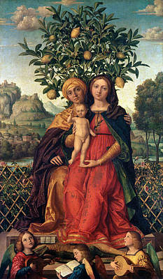 The Virgin And Child With Saint Anne Poster