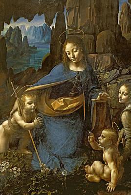The Virgin Of The Rocks Poster by Leonardo Da Vinci