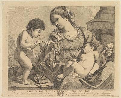 The Virgin Teaching St. John Poster by John Hamilton Mortimer