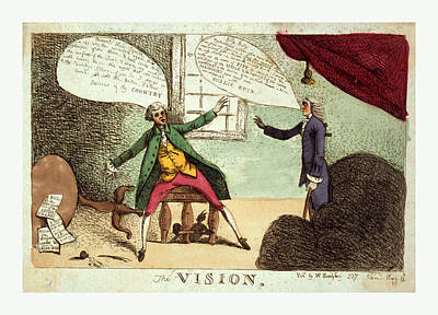 The Vision, Engraving 1785, A Young Man, Possibly William Poster