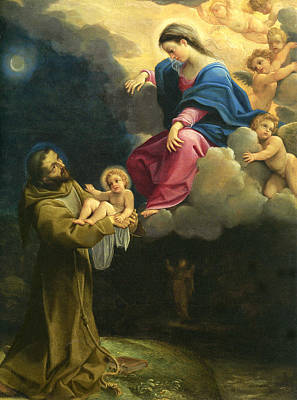 The Vision Of Saint Francis  Poster by Carracci Ludovico