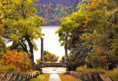 The Vista Steps In Autumn Poster