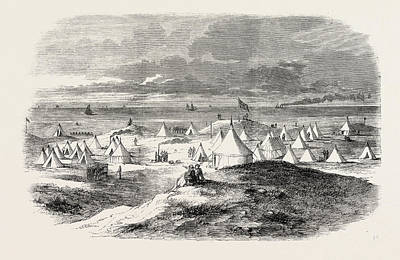 The Volunteer Camp, On Crosby Sands, Near Liverpool Poster