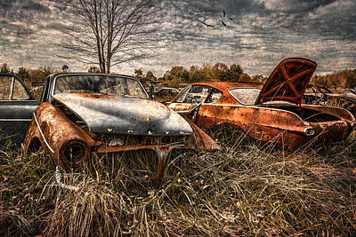 The Volvo Graveyard Poster by Dale Kincaid
