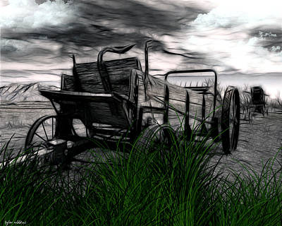 Poster featuring the mixed media The Wagon by Tyler Robbins
